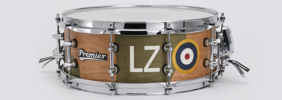 Limited edition Nicko McBrain 'Aces High' snare drum